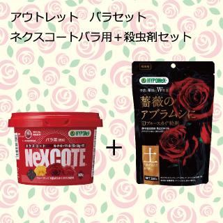 バラセット ネクスコートバラ用+殺虫剤(ブルースカイ粒剤)セット