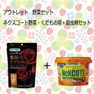 野菜セット ネクスコート野菜・くだもの用+殺虫剤(ブルースカイ粒剤)セット
