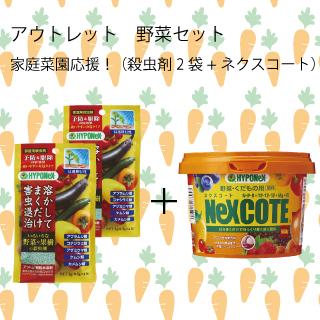 野菜セット 家庭菜園応援!ネクスコート+殺虫剤(アントム顆粒水溶剤)2袋セット