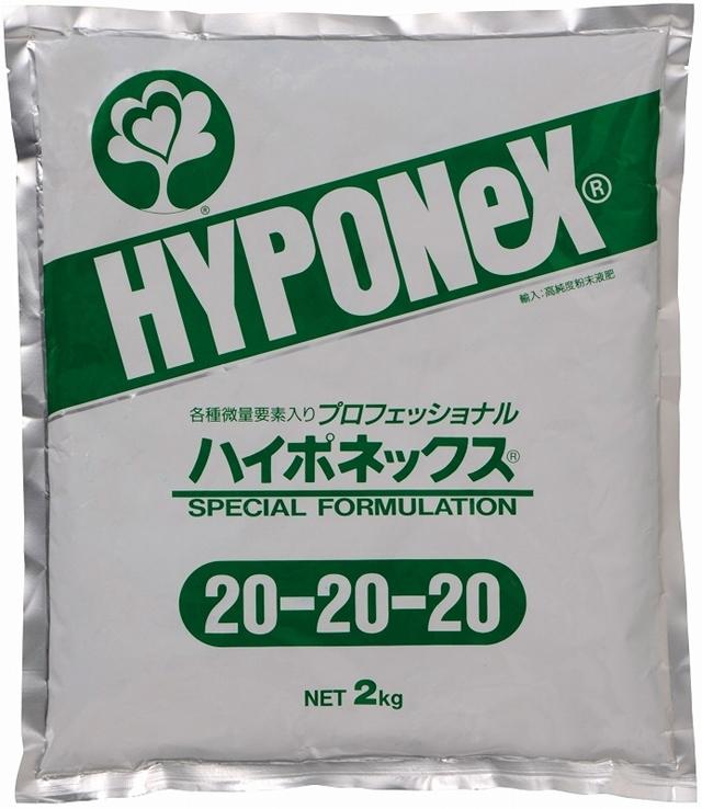 粉末液肥プロフェッショナルハイポネックス(WSF Professional Hyponex) 20-20-20 2kg×5袋  配送料込み
