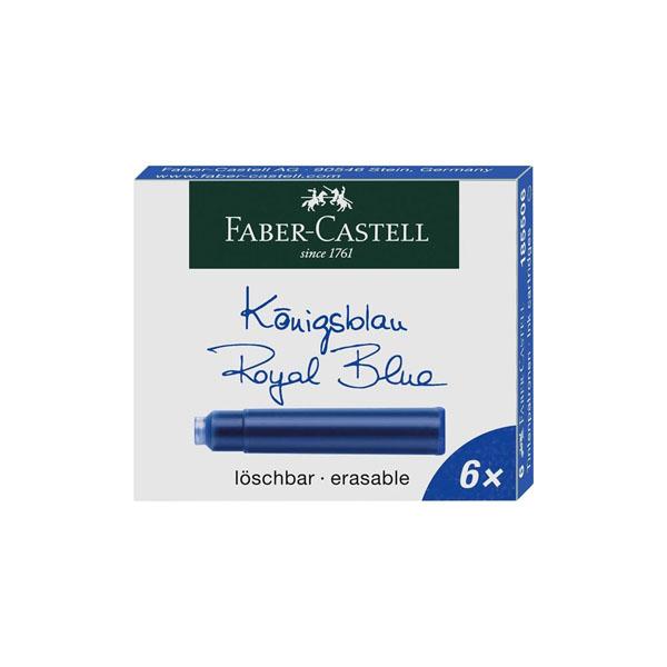 【お取り寄せ】ファーバーカステル(Faber Castell) デザイン万年筆用 カートリッジインク 6本入り ファーバーカステル グラフ・フォン・ファーバーカステル共用 メール便可