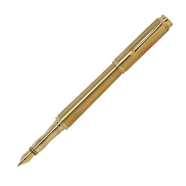 【即納可能】F-STYLE Metal Pen メタルペン 万年筆 KMM200 Gold