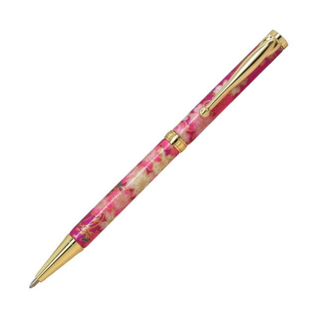 【即納可能】F-STYLE 美濃和紙 Mimo Washi Pen ボールペン TM1602 しだれ桜 紫色 メール便可
