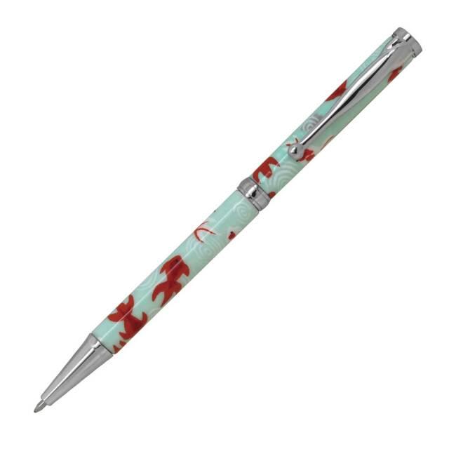 【即納可能】F-STYLE 美濃和紙 Mimo Washi Pen ボールペン PMW1552 金魚 水色 メール便可