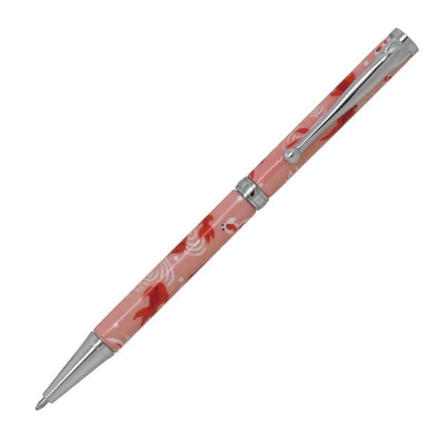 【即納可能】F-STYLE 美濃和紙 Mimo Washi Pen ボールペン PMW1552 金魚 桃色 メール便可