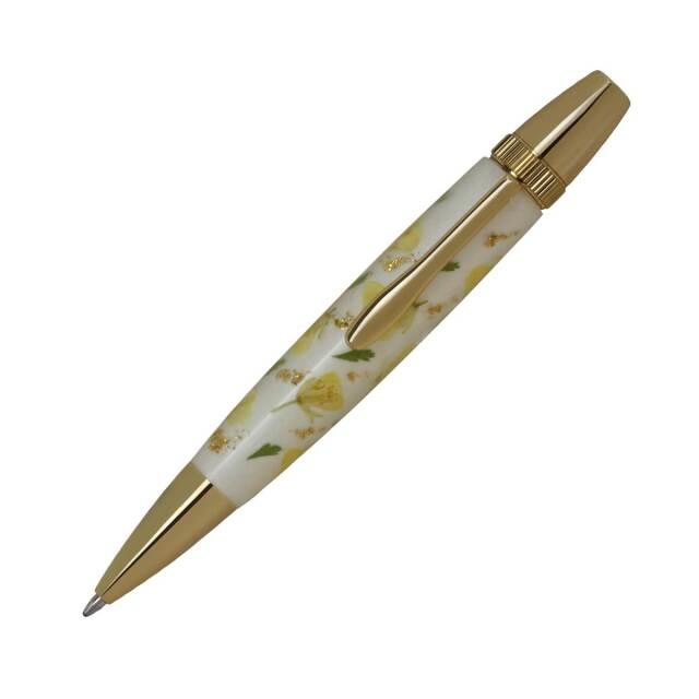 【即納可能】F-STYLE Flower Pen 押花 ボールペン TFB2020 菜の花 黄色