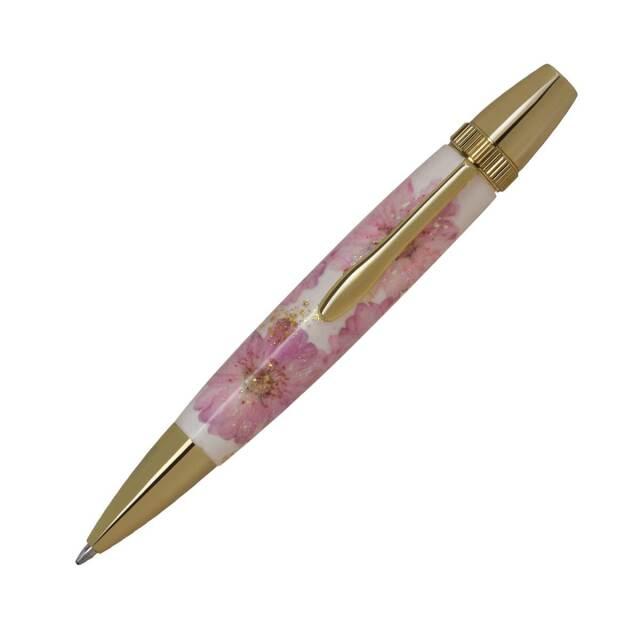 【即納可能】F-STYLE Flower Pen 押花 ボールペン TFB2021 八重桜 桃色