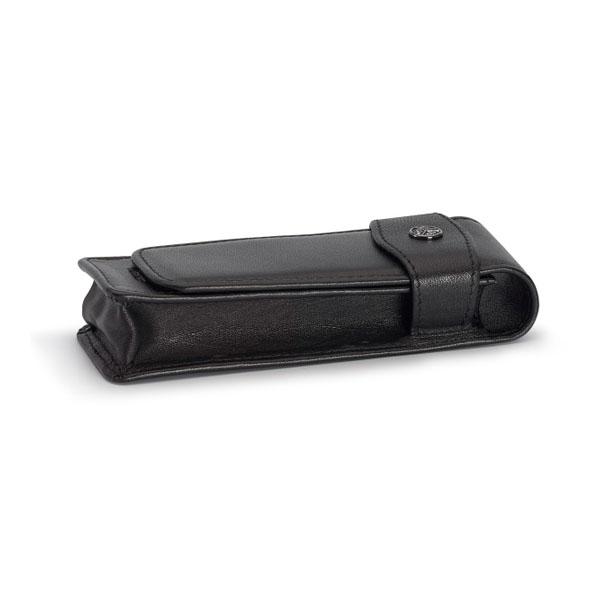 【お取り寄せ】カヴェコ(KAEWCO)ショートタイプ 2本用 革ケース 黒 CASES-2