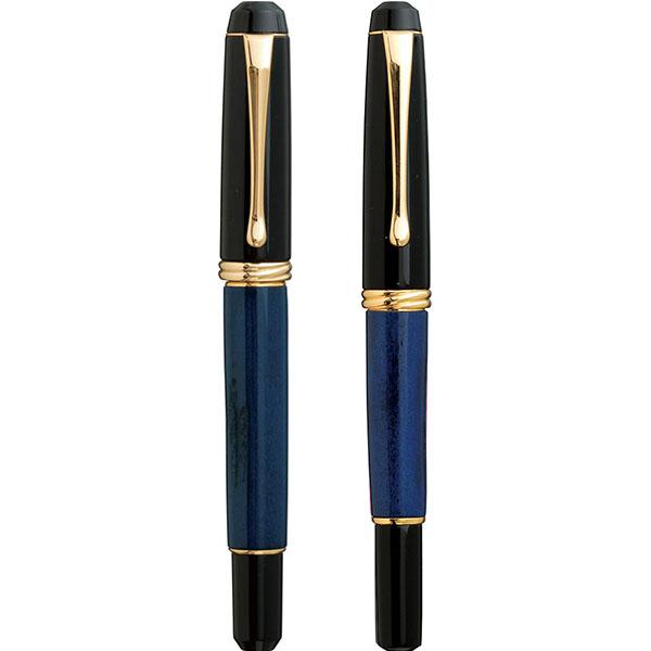 【お取り寄せ】くれ竹(Kuretake)  夢銀河 鹿角 古代藍染め 万年毛筆&万年筆 セット
