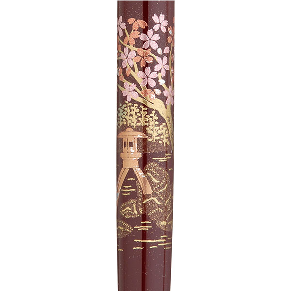 【お取り寄せ】くれ竹(Kuretake) 蒔絵物語 桜園 臙脂 手紙ぺん ER187-113