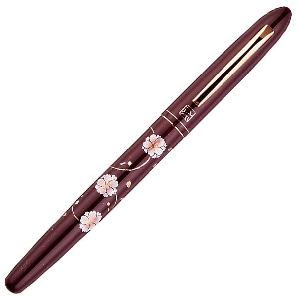 【お取り寄せ】くれ竹(Kuretake) 蒔絵物語 牡丹桜 臙脂 手紙ぺん ER187-710