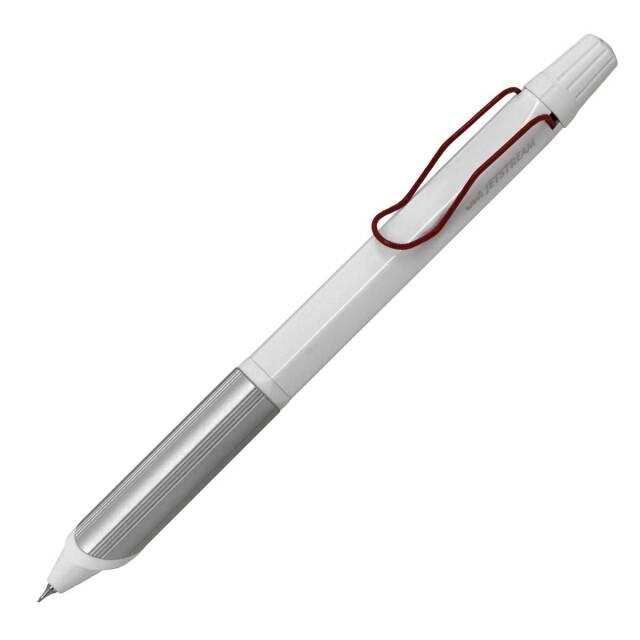 【即納可能】三菱鉛筆(UNI) ジェットストリーム エッジ 3 ホワイトレッド SXE3-2503-28 W.15 メール便可