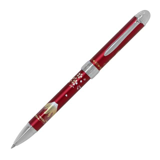 【即納可能】セーラー(SAILOR) 優美蒔絵 鶴 2色ボールペン+シャープペンシル レッド 多機能ペン 16-0334-230