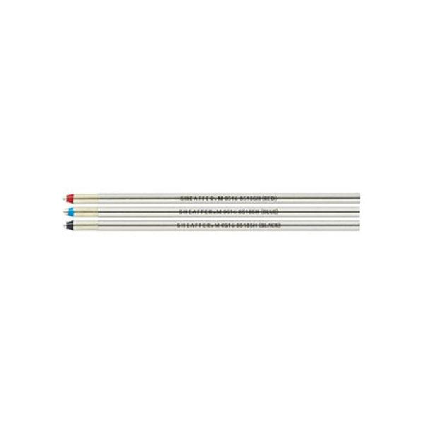 【お取り寄せ】シェーファー(SHEAFFER) ボールペン用替え芯 クアトロ用 黒赤青 中字:M セット 8518SH メール便可