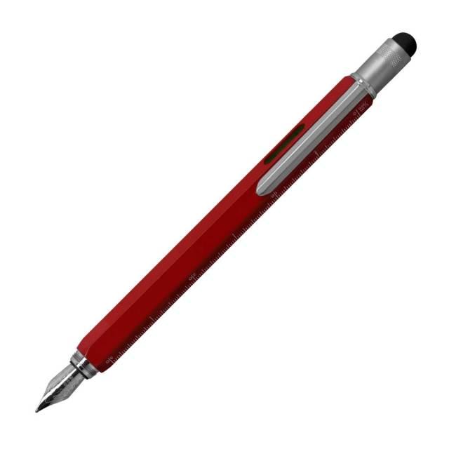 【即納可能】モンテベルデ(Monnteberude) ワンタッチ・スタイラス・ツールペン レッド 万年筆 メール便可