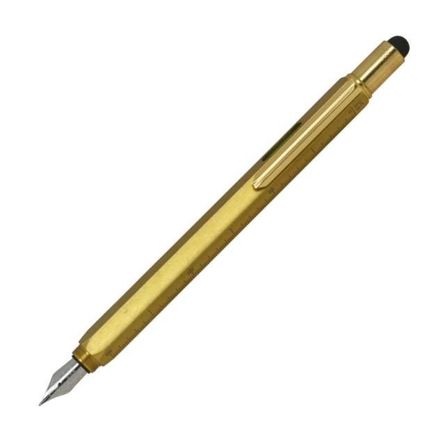 【お取り寄せ】モンテベルデ(Monnteberude) ワンタッチ スタイラス ツールペン ソリッドブラス 万年筆