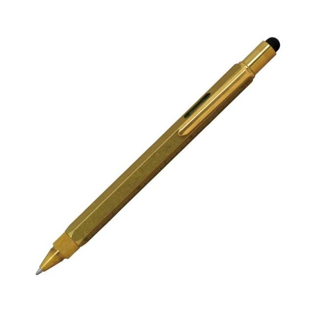 【お取り寄せ】モンテベルデ(Monnteberude) ワンタッチ・スタイラス ツールペン ソリッドブラス ボールペン 1919392