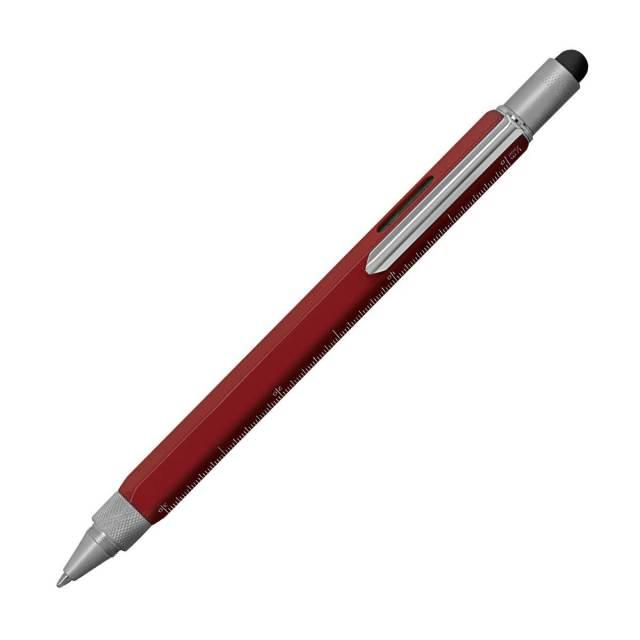 【即納可能】モンテベルデ(Monnteberude) ワンタッチ・スタイラス ツールペン レッド ボールペン 1919381 メール便可