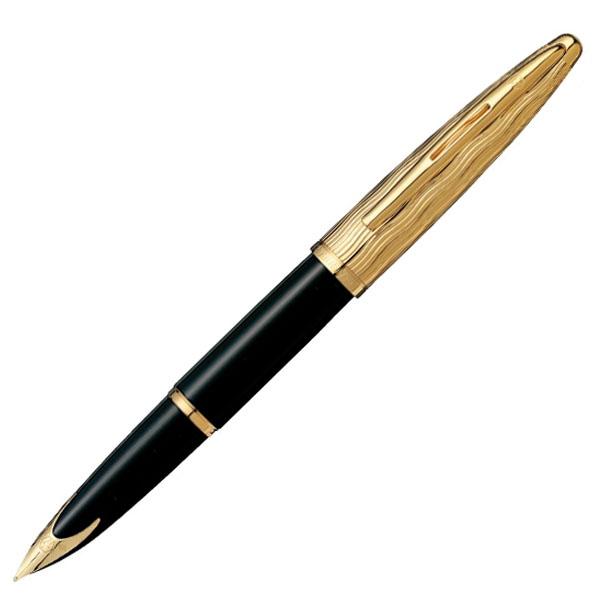 【お取り寄せ】ウォーターマン(WATERMAN)カレン・デラックス エッセンシャル ブラックGT 万年筆