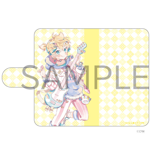 HATSUNE MIKU Digital Stars 2021 Animax Cafe+ 手帳型汎用スマホケース 鏡音レン