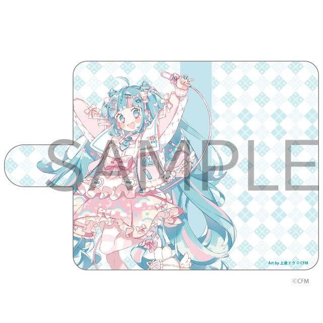 HATSUNE MIKU Digital Stars 2021 Animax Cafe+ 手帳型汎用スマホケース 初音ミク
