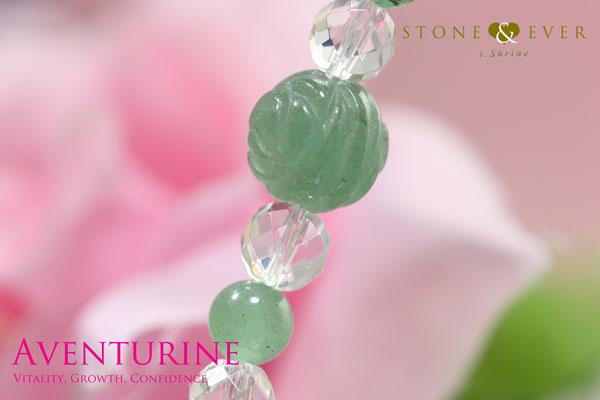 天然石 薔薇ブレスレット 『アベンチュリン』