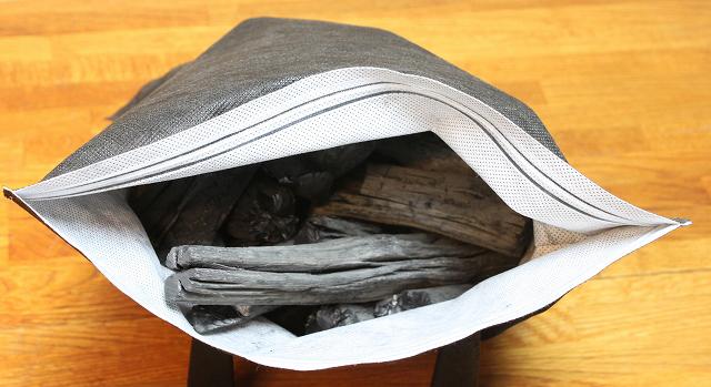 消臭用備長炭(粉が漏れない不織布入り2kg)