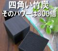 四角い竹炭チクノキューブ そのパワーは300倍