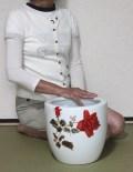 オールドノリタケ薔薇柄手あぶり火鉢