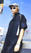 茨城ワーク 作業服 寅壱 KR-SPORTS半袖ツナギ【つなぎ・ツヅキ・作業服】(3L)