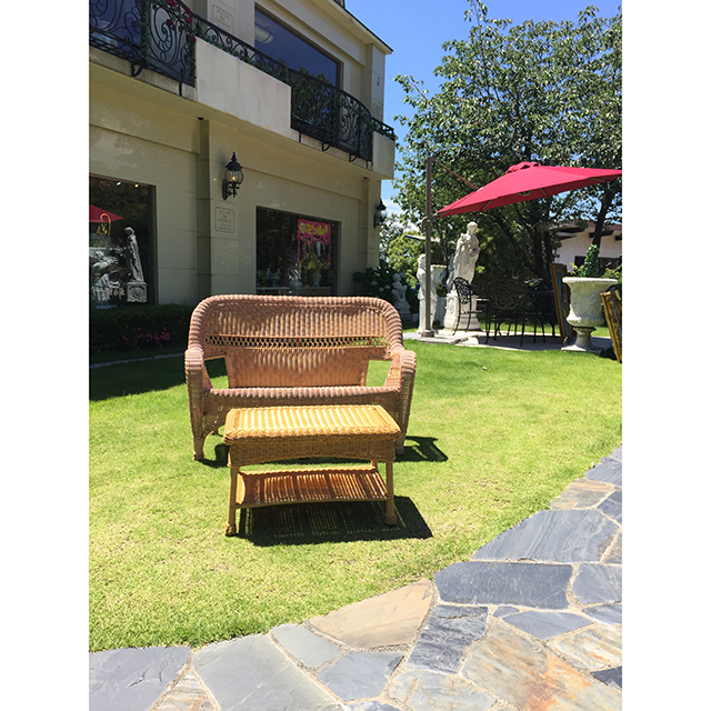 Garden Furniture / 雨に強いガーデンソファ2点セット |テーブル付き|少々難あり|IB Selection|HGE0060