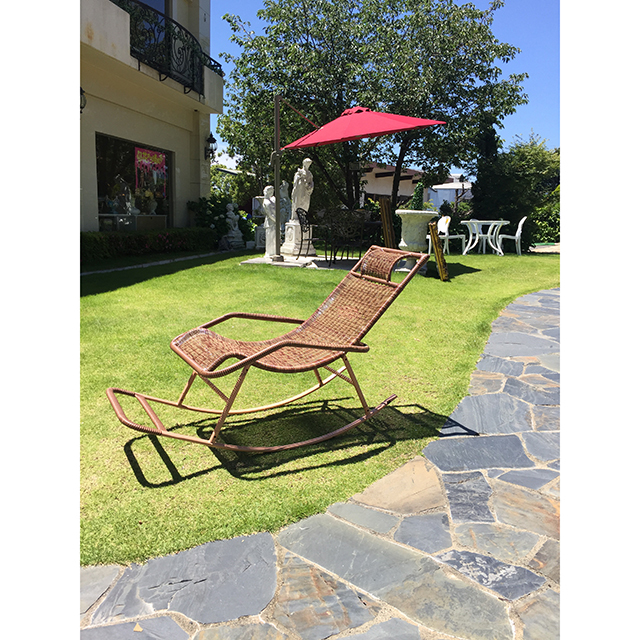 Garden Furniture / ガーデンロッキングチェア|ライトブラウン|色違いあり|少々難あり|IB Selection|HGE0061