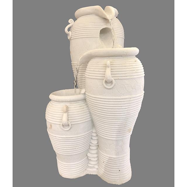 Garden Furniture / fountain / 噴水|壺型|3段|アンティーク ホワイト|循環式|IB Selection|HGE0064IB