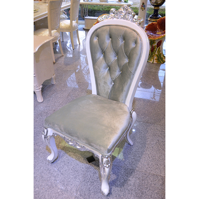 Prima- Dining Chair / プリマ 鏡面仕上げ ダイニングチェア 白×シルバー|prima|CAI0017