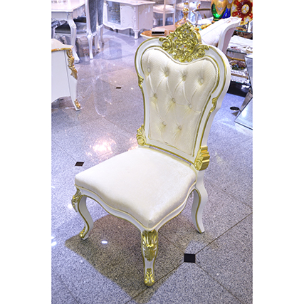 Prima- Dining Chair / プリマ 鏡面仕上げ ダイニングチェア 白×金|prima|CAI0016