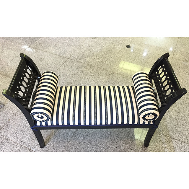 Bench / ベンチ|Long Stool / ロングスツール|クリームホワイト×ブルー|IBERIA オリジナル|CAL0078IB