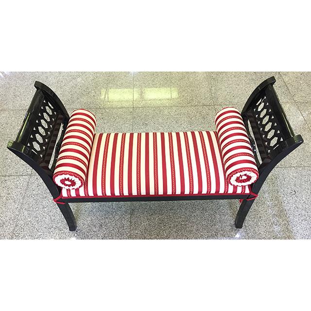 Bench / ベンチ|Long Stool / ロングスツール|クリームホワイト×レッド|IBERIA オリジナル|CAL0077IB