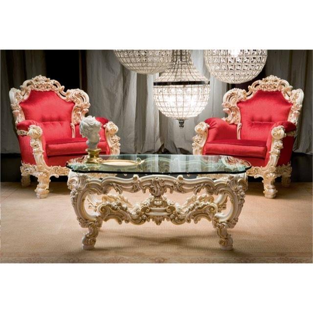 ART. 8805-Center Table/センターテーブル|127cm|ガラス天板|TBL0060SLK