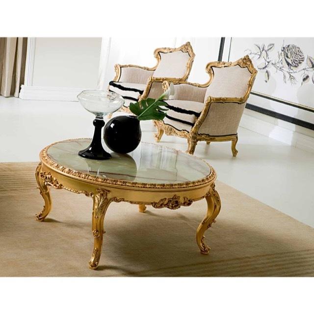 ART. 886-Center Table/センターテーブル|φ115cm|大理石天板|TBL0058SLK