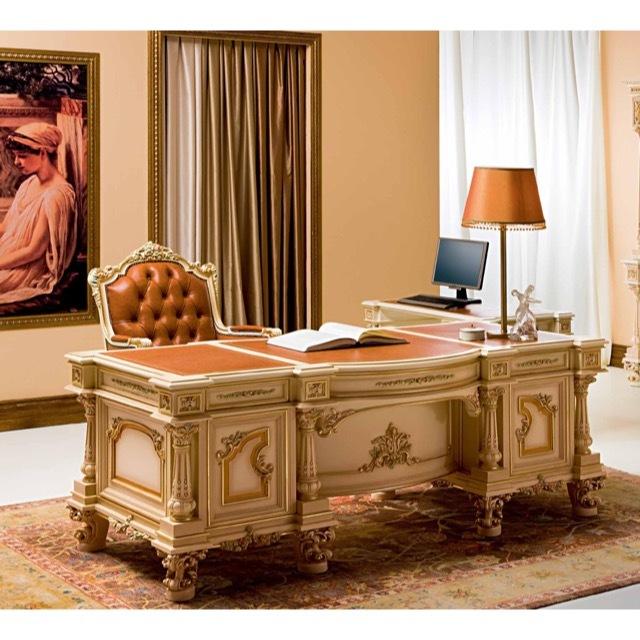ART. 9925-Desk/デスク|ライティングデスク|202cm|SILIK:イタリア|SRE0044SLK
