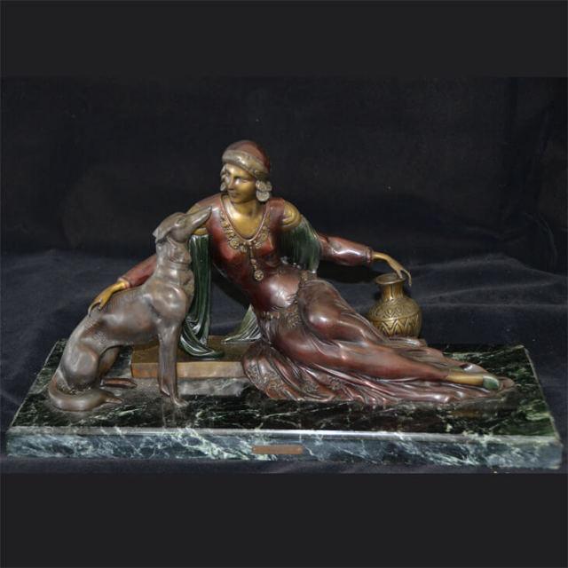 Bronze statue  / ブロンズ像 オブジェ |アメリカ|BNZ0007