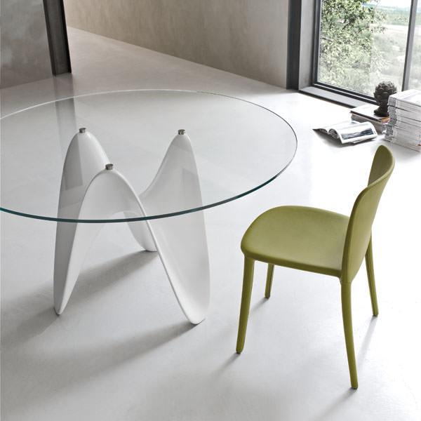 Glass Top Dining Table / GAYA - ガラストップ ダイニングテーブル|TONIN CASA / トニンカーサ : イタリア|DNG0006TNC