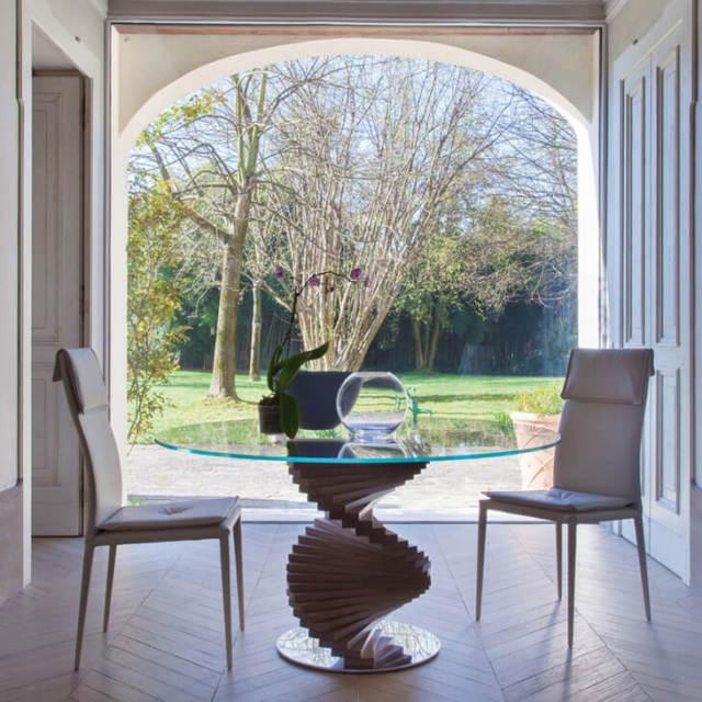 Glass Top Dining Table / FIRENZE - ガラストップ ダイニングテーブル フィレンツェ|TONIN CASA / トニンカーサ : イタリア