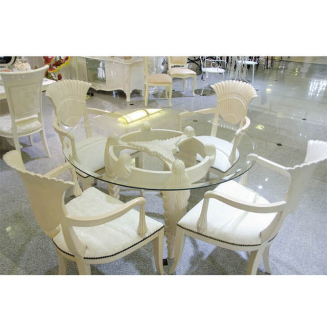 Dining Table Set / シェル形ガラスダイニングテーブルセット|IB Selection|DNG0019
