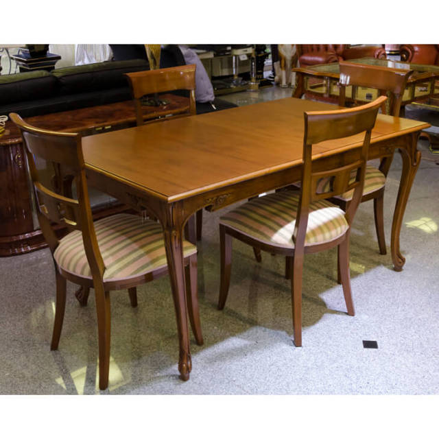 Dining Extension Table Set|伸張式ダイニングテーブル5点セット ブラウン|IB Selection|DNG0021
