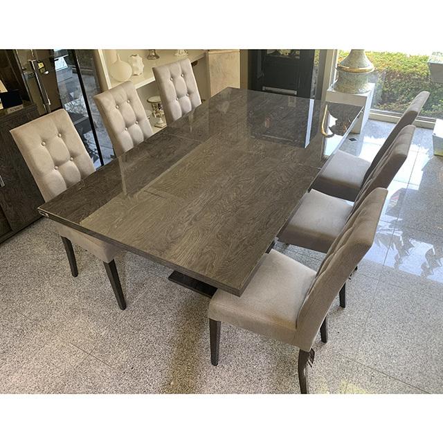 dining Table 5Set - 伸張式ダイニングテーブル7点セット|木目調・グレー仕上げ|イタリア製|DNG0066IB