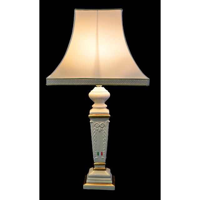 Pottery Lamp / 陶器ランプ|アイボリー×ゴールド|イタリア製|LMP0030IB