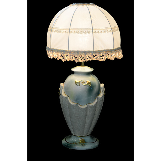 Pottery Lamp / 陶器ランプ|シェード付き|ブルー×ホワイト|LMP0034IB