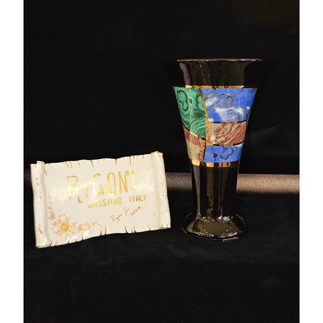 Flower Vase / フラワーベース|ハンドメイド陶器花瓶|Angela Rigon  : イタリア|OBJ0124RGN