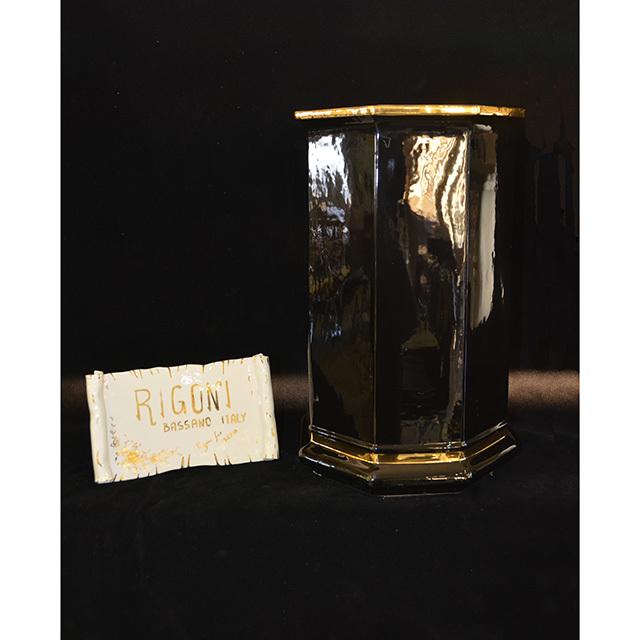 Flower Vase / フラワーベース|ハンドメイド陶器花瓶 壺 |Umbrella stand / 傘立て|Angela Rigon  : イタリア|OBJ0120RGN